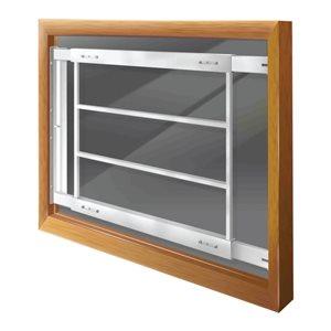 Mr. Goodbar 29-in x 21-in Swing-Away Window Security Bar (White)