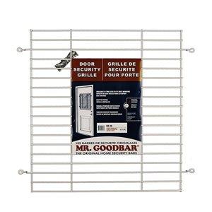 Mr. Goodbar 27-in x 24-in Back Door Window Security Bar (White)