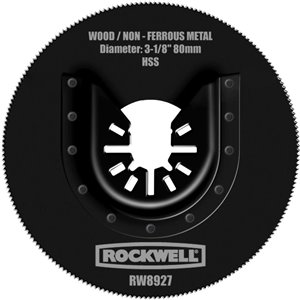 ROCKWELL 3 1/8-in Wood/Metal Saw Blade