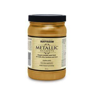 Rust-Oleum Rust-Oleum 264571 946mL Soft Gold Metallic Accents Water Based Latex Paint