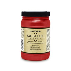 Rust-Oleum 32 fl oz Metallic Latex Interior/Exterior Paint