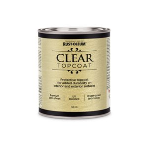Top Coat Paint >> Rust Oleum Rust Oleum 264624 946ml Satin Clear Metallic Accents Water Based Top Coat Paint