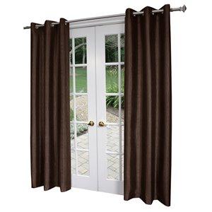 Design Decor Crete 96-in Chocolate Thermal Single Curtain Panel