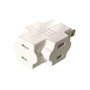 Project Source Single to Triple White 2-Wire Basic Cube Adapter