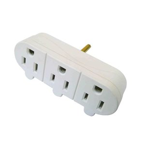 Project Source Single to Triple White 3-Wire Grounding Basic Adapter
