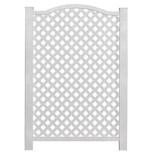 Freedom 32-in x 46-in White Vinyl Outdoor Privacy Screen