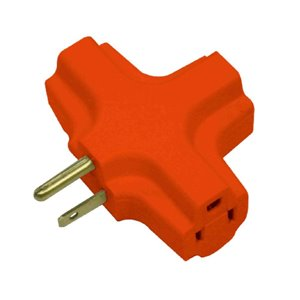 Project Source Single to Triple Orange 3-Wire Grounding Basic Adapter