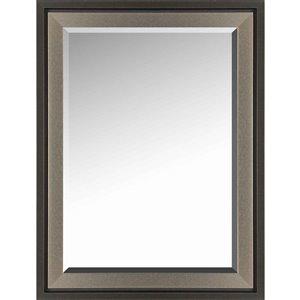 Images 2000 Espresso 2-Tone Rectangular Framed Mirror