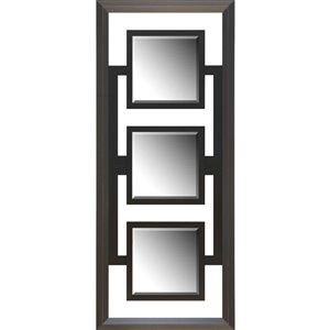 Images 2000 Espresso 2-Tone Triple Framed Mirror