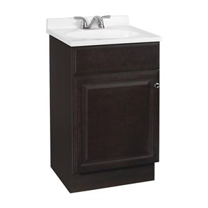 Project Source Richmond 18-in Single Sink Java Bathroom Vanity With Cultured Marble Top