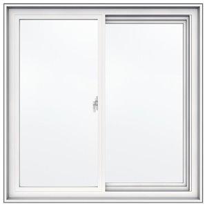 JELD-WEN 36-in x 36-in Low-E Double Pane Vinyl Sliding Window