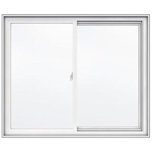 JELD-WEN 48-in x 40-in Low-E Double Pane Vinyl Sliding Window