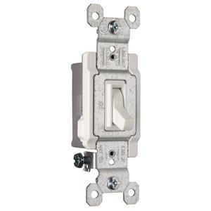 Legrand 15-Amp Single Pole White Framed Toggle Light Switch