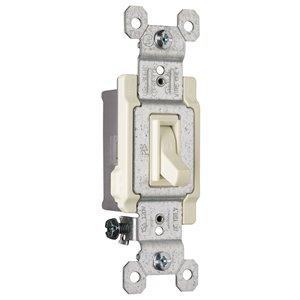 Legrand 15-amp Single Pole Light Almond Framed Toggle Light Switch