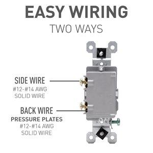 Legrand 15-Amp Single Pole Black Framed Toggle Light Switch