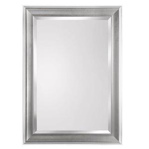 KingStar 25-in x 35-in Chrome Rectangular Framed Mirror