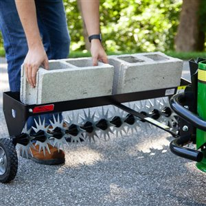 Brinly 40-in Steel 135-lbs Tow-Behind Spike Aerator With Wheels