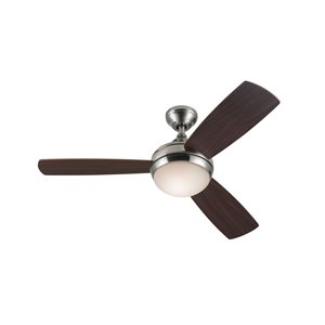 Harbor Breeze Sauble Beach 44 In Brushed Nickel Fluorescent Indoor Residential Ceiling Fan With