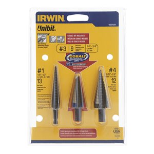 IRWIN Unibit 3-Piece Step Bit Set