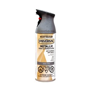 Rust-Oleum Universal 312g Metallic Gloss Paint and Primer Spray