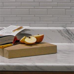 VTI Fine Laminate Countertops Calcutta Marble 25.5-in Depth Straight Cut Laminate Countertop