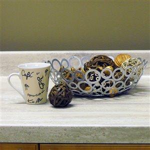 VTI Fine Laminate Countertops Travertine Silver Straight Cut Laminate Kitchen Countertop