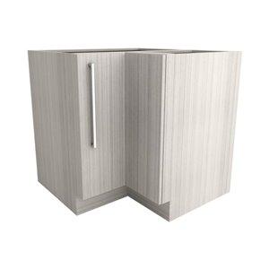 Cutler White Chocolate 23.5-in Single-Door Base Cabinet