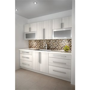 Cutler White Chocolate Two Door Upper Wall Cabinet