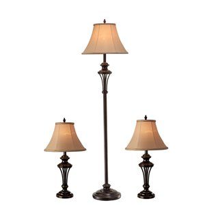 DSI 3-Piece Floor and Table Lamp Set