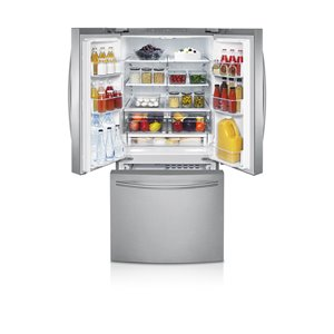 Samsung 21.6-cu ft French Door Refrigerator with Single Ice Maker (Stainless Steel) ENERGY STAR