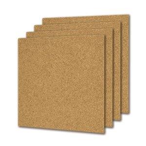 12-in x 12-in x 3/16-in Cork Tile (4-Pack)