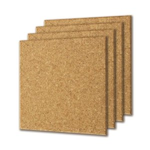12-in x 12-in x 1/4-in Cork Tile Beveled (4-Pack)