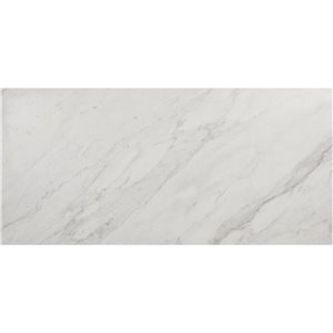 Style Selections 12-in x 24-in Marmol Venatino Polished Glazed Porcelain Floor Tile