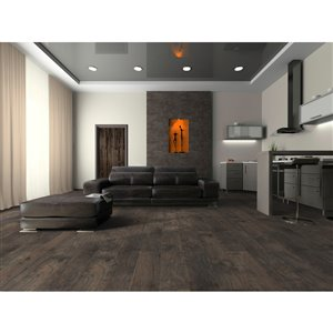 Mono Serra Group Tradition Timber Dark Grey 6.29-in W Embossed Wood Plank Laminate Flooring