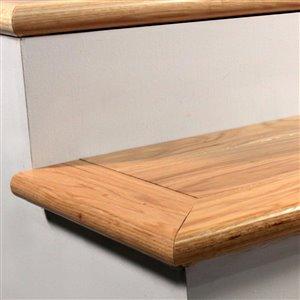 FLEXCO 0.375-in x 2.75-in x 78-in Oak Stair Nose Floor Moulding