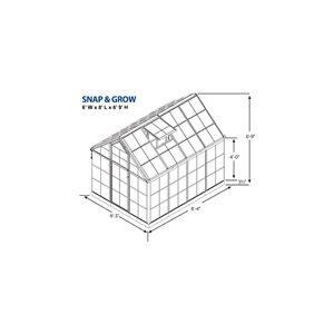 Palram 8.34-ft L x 6.23-ft W x 6.86-ft H Polycarbonate