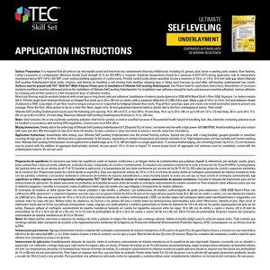 TEC 50-lbs Ultimate Self Leveling Underlayment