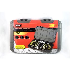 MIBRO 26-Piece Tap, Die and Drill Set
