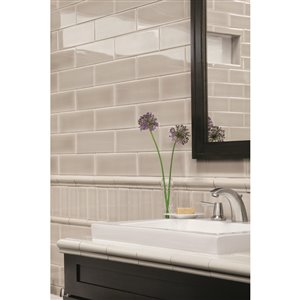 allen + roth 4-in x 12-in Pearl Ceramic Wall Tile 9-Pack