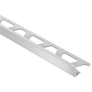 Schluter Systems 5/16-in Satin Silver Aluminum Tile Edge Trim