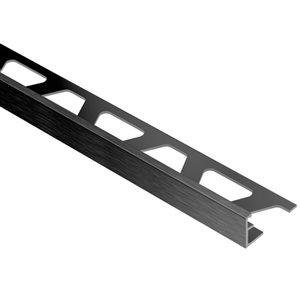 Schluter Systems 3/8-in Brush Graphite Aluminum Tile Edge Trim