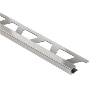 Schluter Systems 5/16-in Satin Nickel Aluminum Quadec Tile Edge Trim Square Reveal