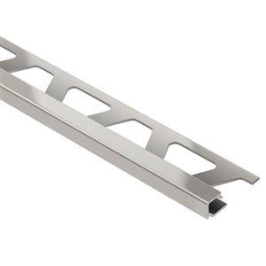 Schluter Systems 3/8-in Satin Nickel Aluminum Tile Edge Trim Square Reveal