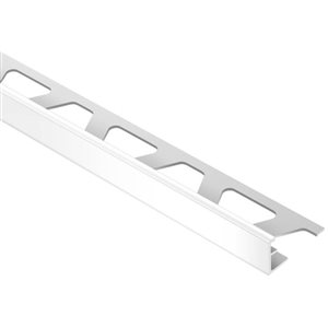 Schluter Systems 3/8-in Bright White PVC Tile Edge Trim