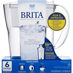 Brita Space Saver Pitcher Water Filtration System