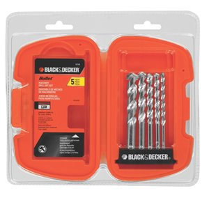 BLACK & DECKER 5-Piece Bullet Speed Tip Masonry Drill Bit Set