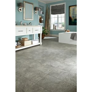 Style Selections 12-in x 12-in Shanghai Mist Stone Finish Vinyl Tile