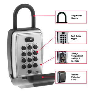Master Lock Portable Push Button Lock Box