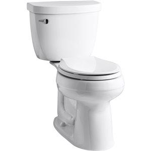 KOHLER Cimarron 1.28 White WaterSense Round Comfort Height 2-Piece Toilet