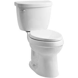 KOHLER Cimarron 1.28 White WaterSense Elongated Comfort Height 2-Piece Toilet